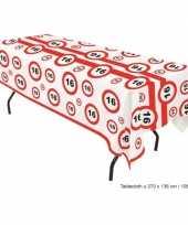 Plastic tafelkleed sweet 16 trend