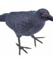 Plastic vogels zwarte raaf 22 cm trend