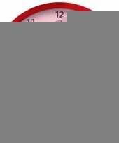 Plastic wandklok cavalier 25 cm trend