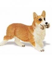 Plastic welsh corgi pembroke hond 6 cm met bot trend