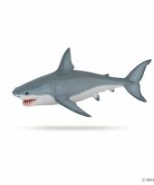 Plastic witte haai 19 cm trend