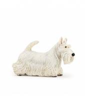Plastic witte schotse terrier 6 cm trend