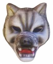 Plastic wolven masker kap trend
