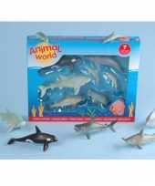 Plastic zeedierenset 7 stuks trend