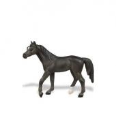 Plastic zwart paard speelfiguur trend