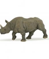Plastic zwarte afrikaanse neushoorn 7 cm trend