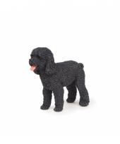 Plastic zwarte poedel 6 cm trend