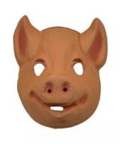 Plastic zwijn masker roze trend