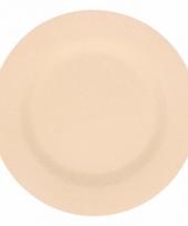 Plat stevig ontbijtbord voor kinderen beige 17 5 cm trend