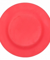 Plat stevig ontbijtbord voor kinderen donkerrood 19 8 cm trend