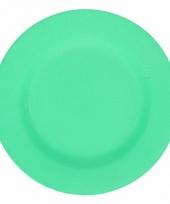 Plat stevig ontbijtbord voor kinderen groen 17 5 cm trend