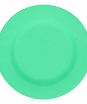 Plat stevig ontbijtbord voor kinderen groen 19 8 cm trend