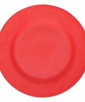Plat stevig ontbijtbord voor kinderen rood 17 5 cm trend