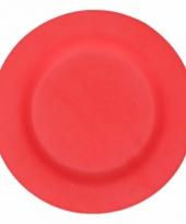 Plat stevig ontbijtbord voor kinderen rood 19 8 cm trend