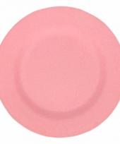 Plat stevig ontbijtbord voor kinderen roze 19 8 cm trend