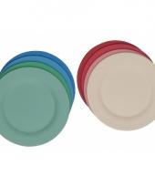 Platte stevige licht groene ontbijtborden voor kinderen 22 5 cm trend