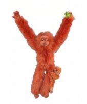 Pluche aapkes oran oetan met jonkie 44 cm trend