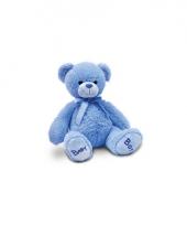Pluche baby boy beer blauw 25 cm trend