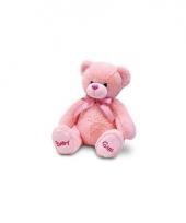 Pluche baby girl beer roze 25 cm trend