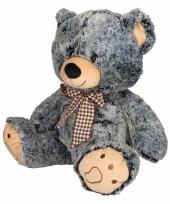 Pluche beer knuffel grijs zwart 32 cm trend