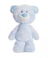 Pluche blauwe beren knuffel 29 cm trend