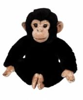 Pluche chimpansee knuffeldiertjes 25 cm trend