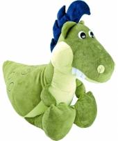Pluche dino knuffel groen 50 cm trend