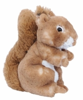 Pluche eekhoorn knuffel bruin 20 cm trend
