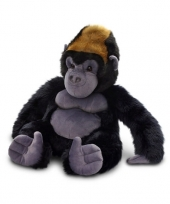 Pluche gorilla aap knuffel zwart zittend 45cm trend