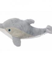 Pluche grijze dolfijn knuffel 34 cm trend