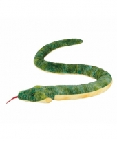 Pluche groene anaconda slangen knuffel 3m trend