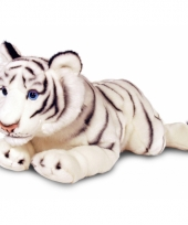 Pluche grote witte tijger 100 cm trend