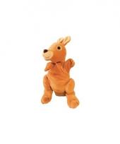 Pluche handpop kangoeroe 22 cm trend