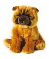 Pluche honden knuffel chow chow staand 25 cm trend