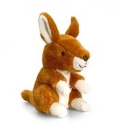 Pluche kangoeroe knuffel zittend 14cm trend