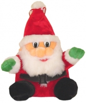 Pluche kerstman knuffel 27 cm trend