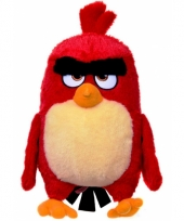 Pluche knuffel angry birds knuffel rood 28 cm trend