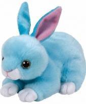 Pluche knuffel blauw konijn haas ty beanie jumper 33 cm trend