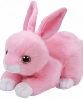 Pluche knuffel roze konijn haas ty beanie walker 33 cm trend