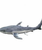 Pluche knuffel witte haai 60 cm trend