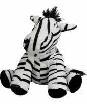 Pluche knuffel zebra 19 cm trend