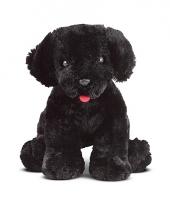 Pluche knuffel zwarte labrador 18 cm trend