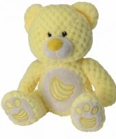 Pluche knuffelbeer geel bananen 25 cm trend