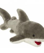 Pluche knuffeldier witte haai 45 cm trend