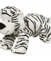 Pluche knuffeldier witte tijger 22 cm trend
