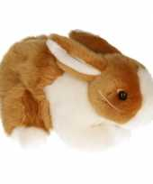Pluche konijn bruin wit 20 cm trend