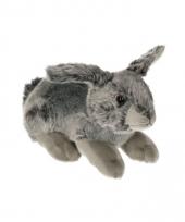 Pluche konijntje grijs 27 cm trend