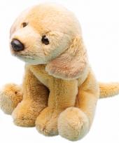 Pluche labrador geel knuffel hond13 cm trend