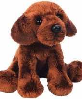 Pluche labrador knuffel hond bruin 12 cm trend