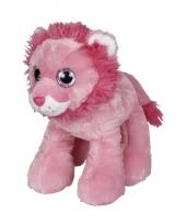 Pluche leeuw roze 22 cm trend